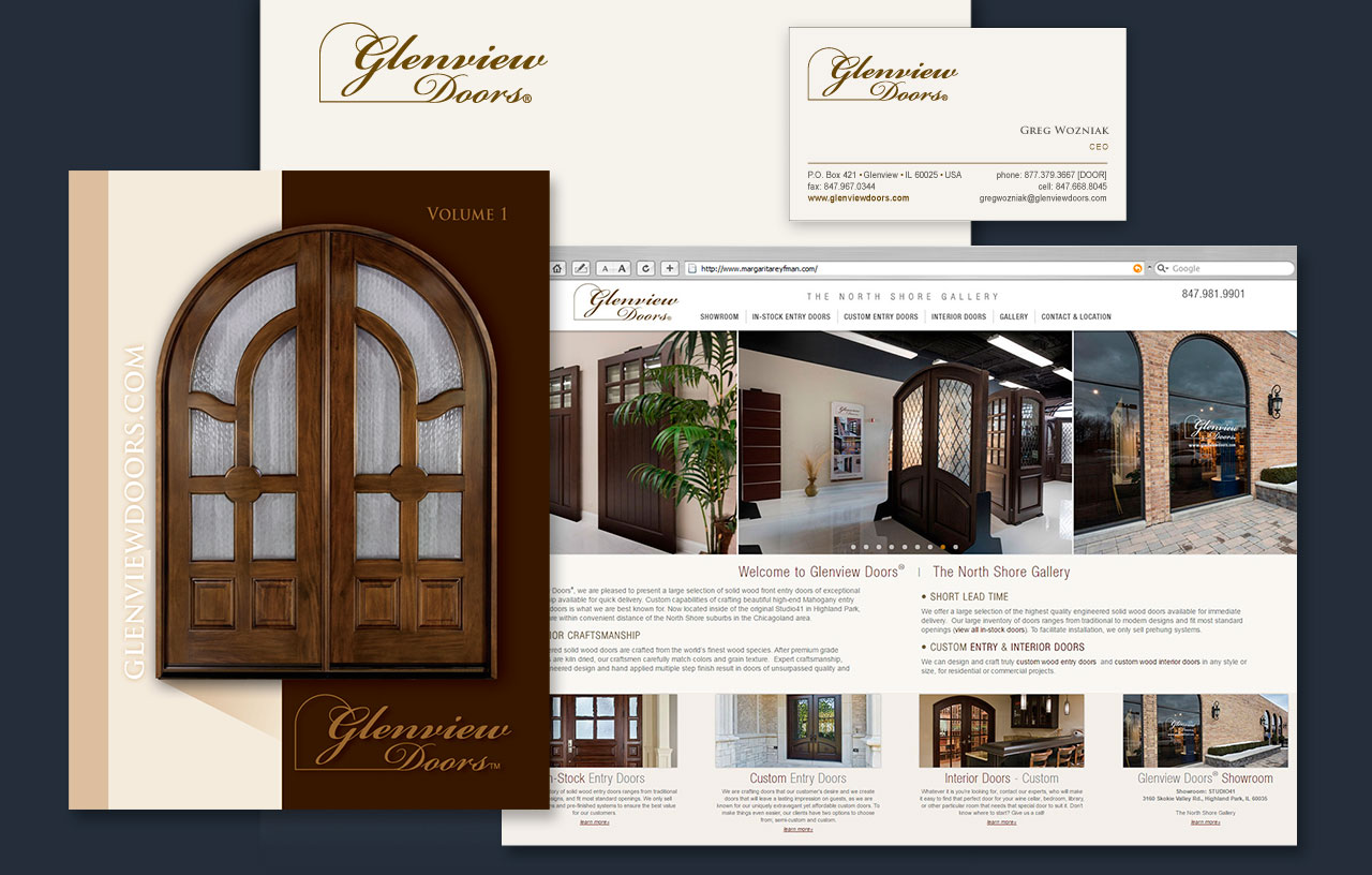 Glenview-Doors Web Design, Graphic Art