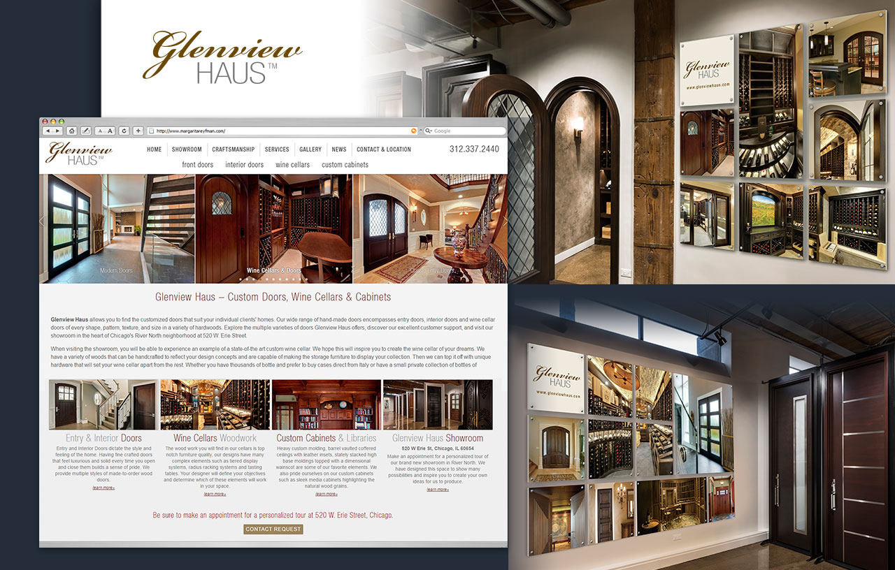 Glenview Haus Branding, Web Design, Graphic Art