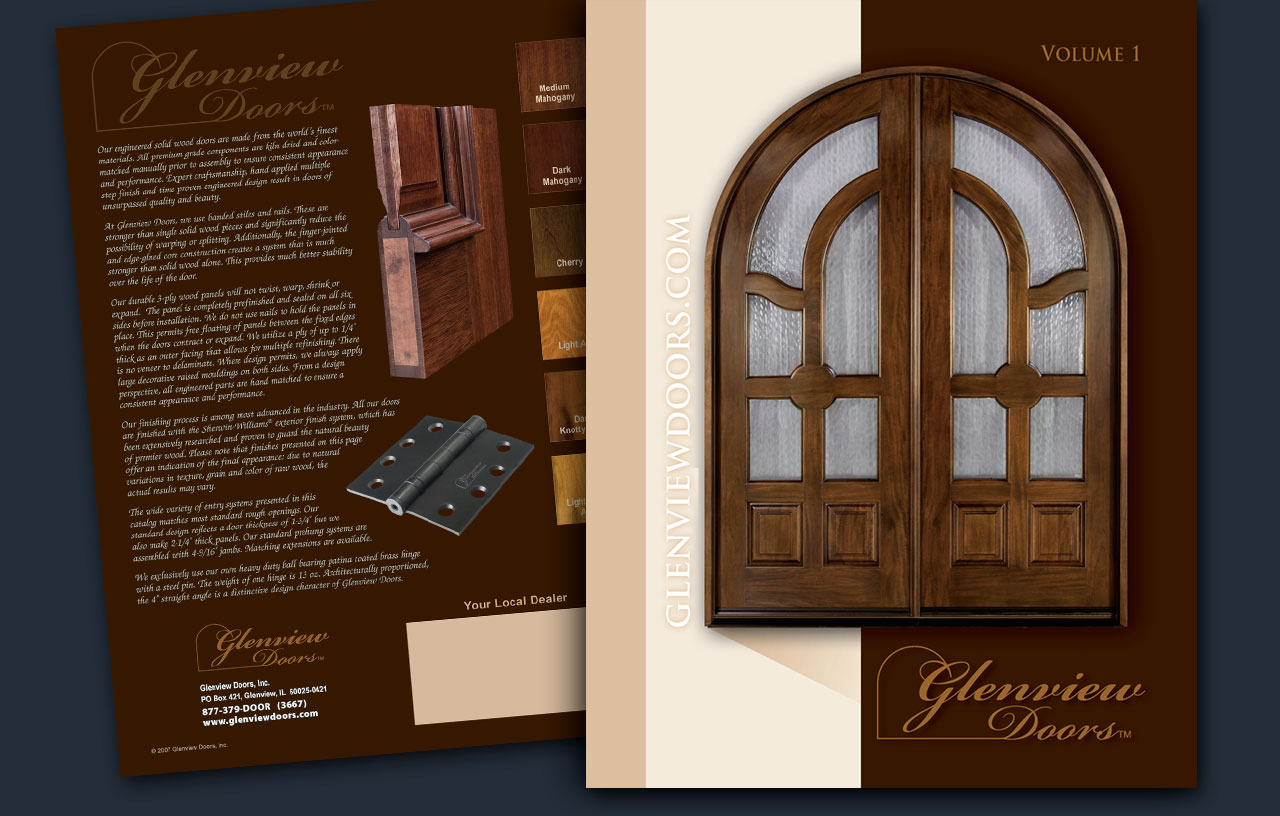 Door catalog molded doors brochure s le for Door design catalogue