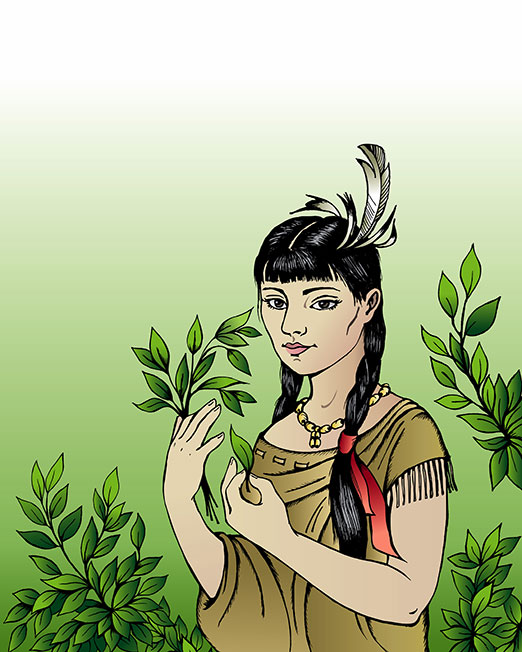 Book-Illustration-Pocahontas-Story Web Design, Graphic Art