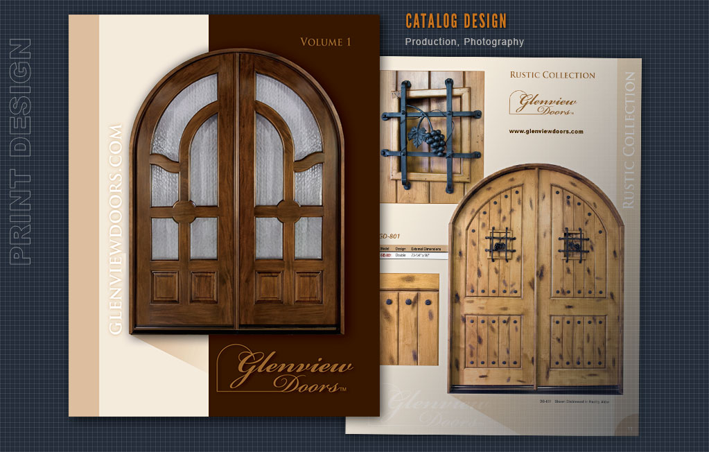 Catalog Print Design, Brochure Design, Production, Pre-Press, Post Cards Design, Direct Mail