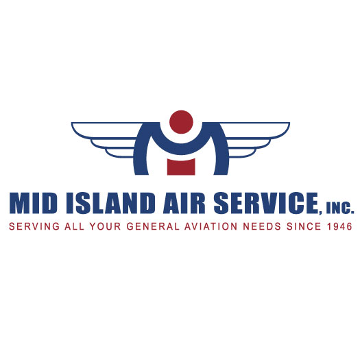 Mid Island Air Service, Inc. Logo Design, Identity Style, Stationary Design, Branding