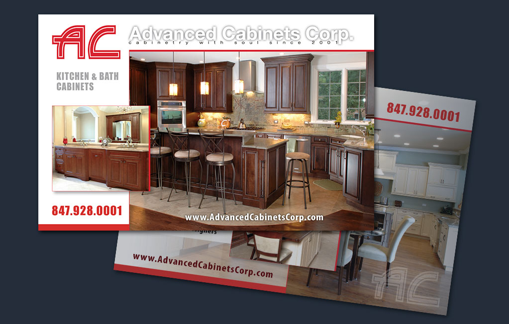 Captivating ... Directmail Advanced Cabinets Corp. Post Card Design Production Pre  Press Web Branding