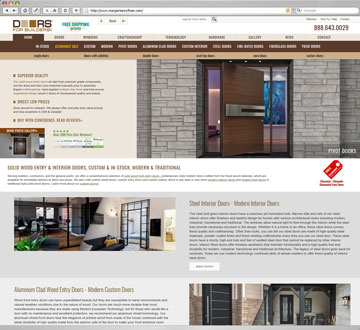 Responsive Web Design, Web Development, Mobile Friendly, Google Search Friendly, SEO, Doors For Builders, Inc.