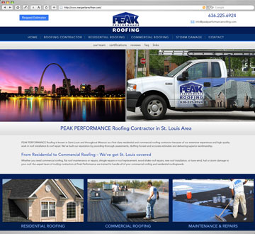 Peak Performance Roofing Website