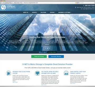 S-NET CommunicationsWebsite