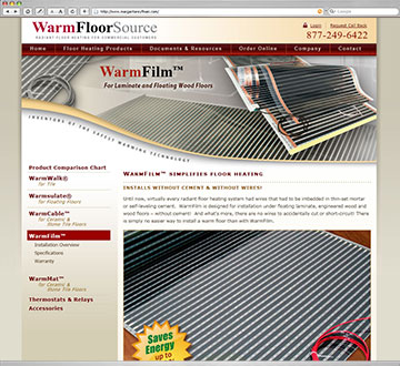 WarmFloorSource Website