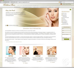 Golden Face  Website Design