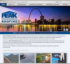Peak Performance Roofing Website