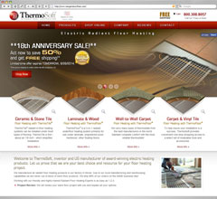 Radiant Floor Heating - Thermosoft e-Comerce Website